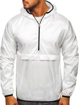 Bolf Herren Übergangsjacke Soort Jacke mit Kapuze Weiß  5061