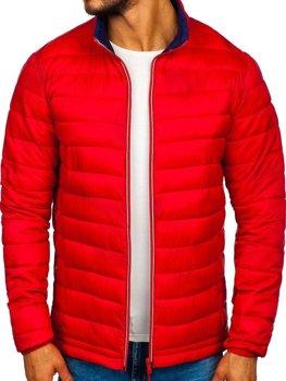 Bolf Herren Übergangsjacke Sport Jacke Rot  LY1017
