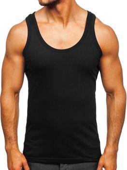 Bolf Herren Unterhemd Schwarz  0001