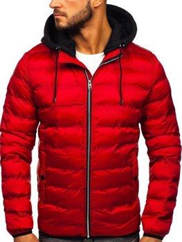Bolf Herren Winterjacke Rot  5332