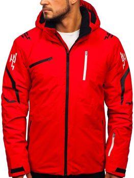 Bolf Herren Winterjacke Skijacke Rot  5941
