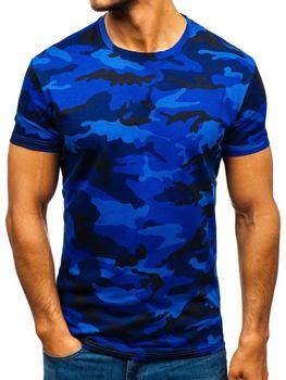 Bolf HerrenT-Shirt Camo-Dunkeblau  S807