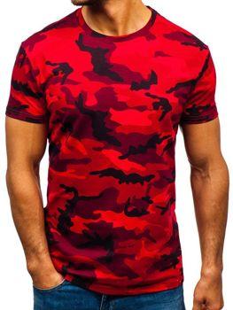 Bolf HerrenT-Shirt Camo-Rot  S807