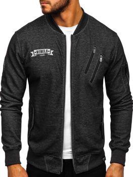 Bolf Jungs Sweatshirt mit Motiv Schwarzgrau  3805