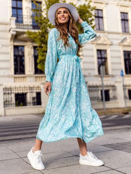 Damen Kleid Mintgrün  A468
