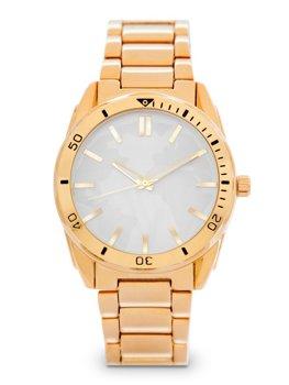Herren Armbanduhr Golden Stahl  5690-1