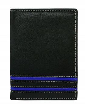 Herren Leder Geldbörse Blau 599