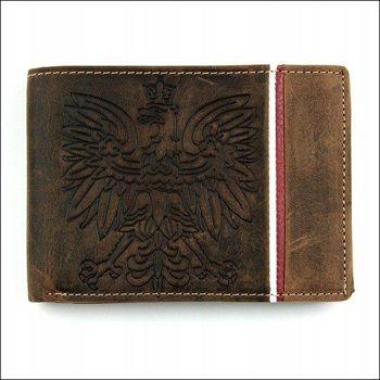 Herren Leder Geldbörse Braun 677