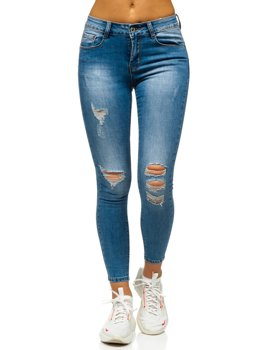 Bolf Damen Jeanshose Push Up  Blau  S3687