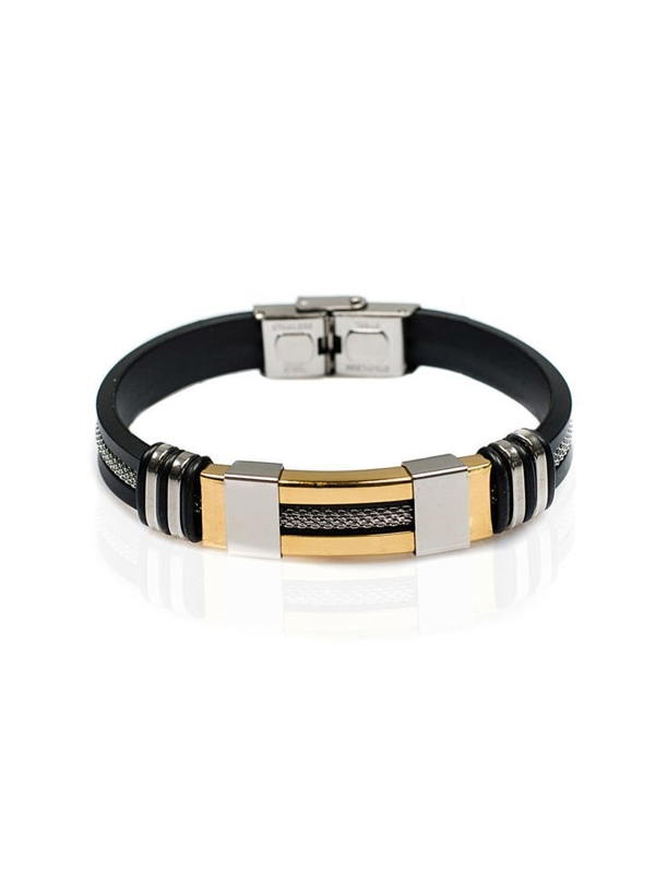 Bolf Herren Armband Schwarz B040