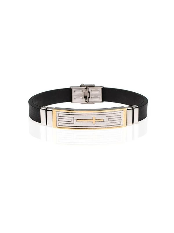 Bolf Herren Armband Schwarz B058
