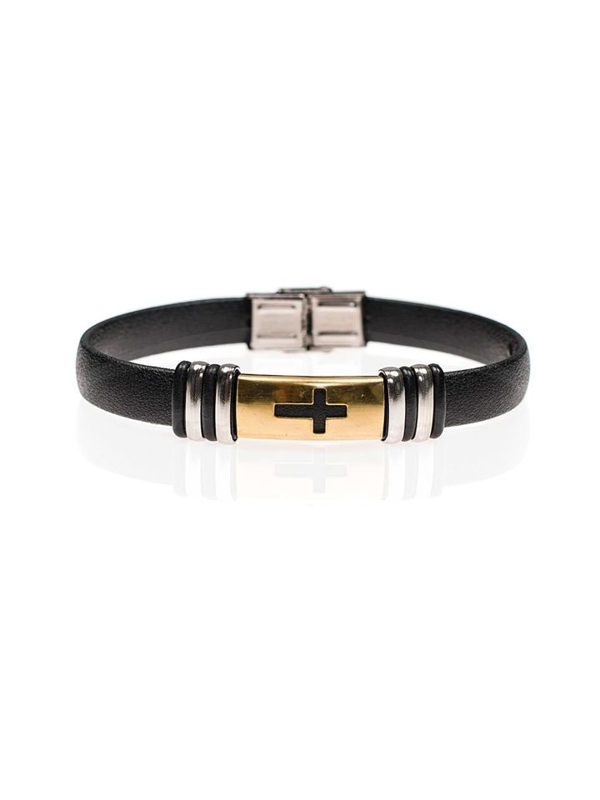 Bolf Herren Armband Schwarz B075