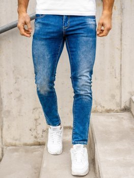 Bolf Herren Jeans Hose regular fit Dunkelblau  KX509