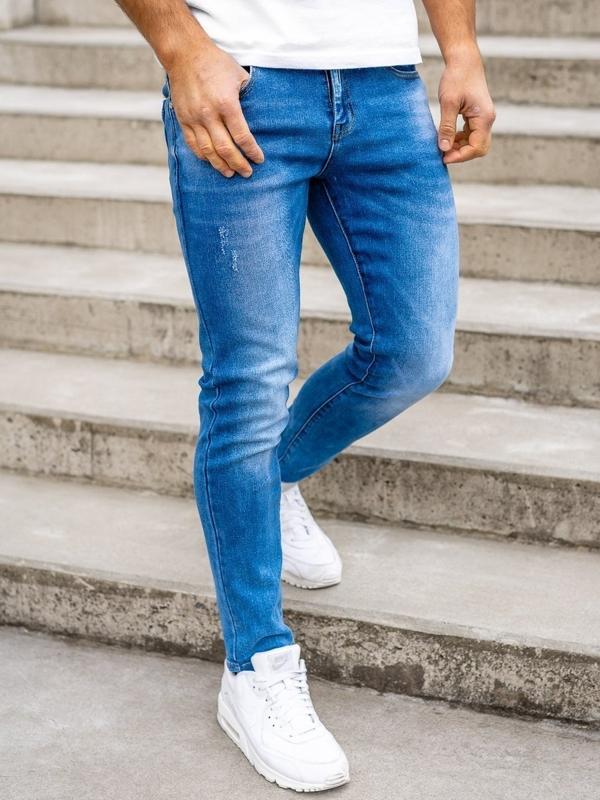 Bolf Herren Jeans Hose skinny fit Dunkelblau  KX392