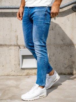 Bolf Herren Jeans Hose skinny fit Dunkelblau  KX397