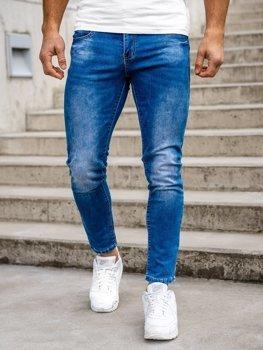 Bolf Herren Jeans Hose skinny fit Dunkelblau  KX507