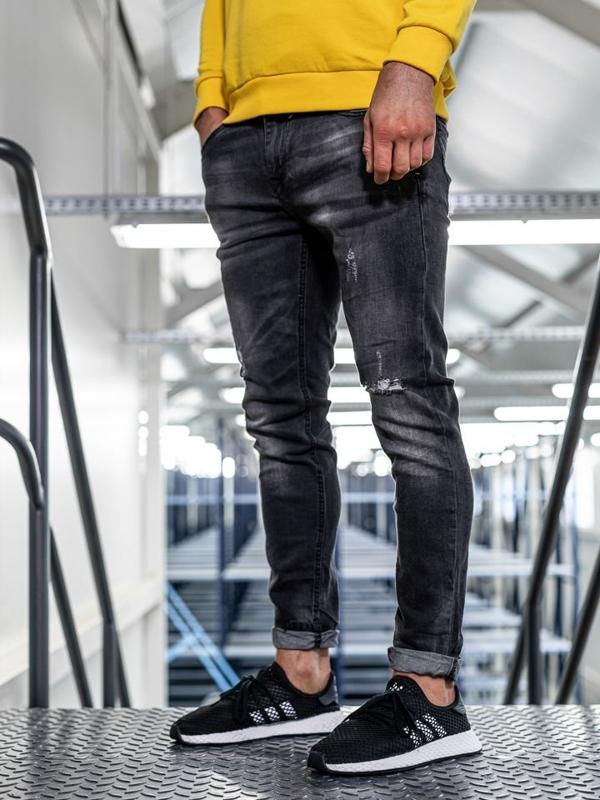 Bolf Herren Jeans Hose slim fit Schwarz  KX320