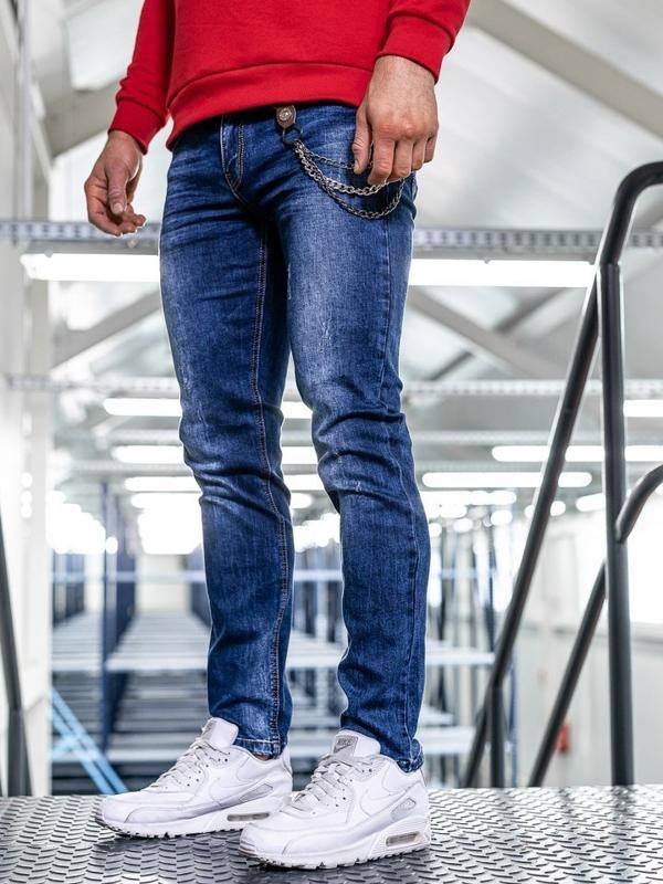 Bolf Herren Jeans Hose straight leg Dunkelblau  KA1260