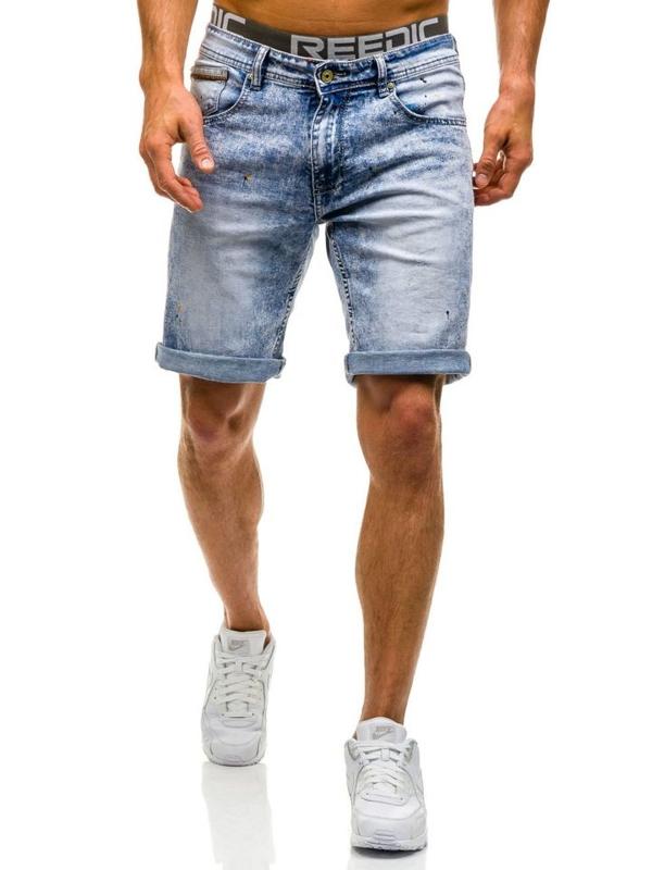 Bolf Herren Jeans Shorts Hellblau 9588