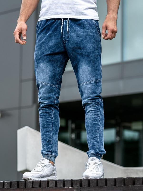 Bolf Herren Jeanshose Jogger Dunkelblau  KK1022