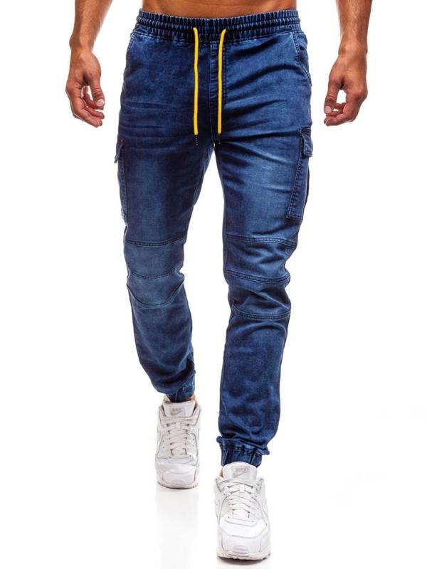 Bolf Herren Jeanshose Jogger Dunkelblau  Y263