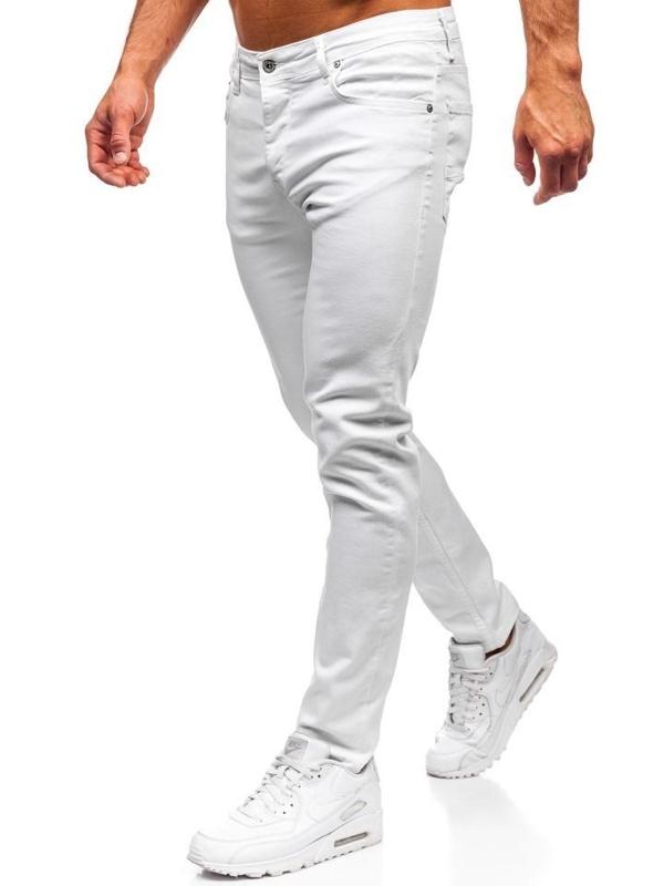 Bolf Herren Jeanshose Weiß  55021
