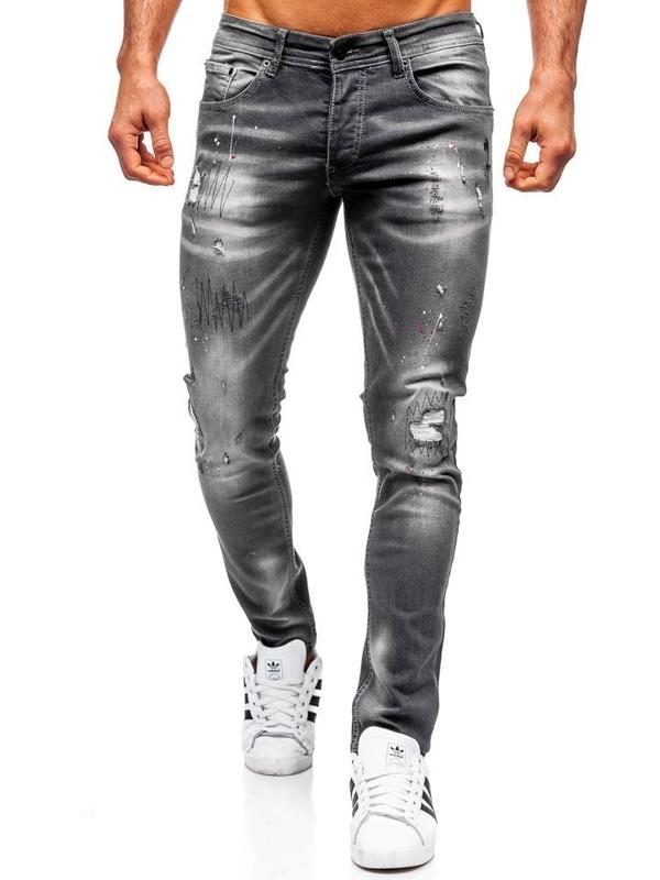 Bolf Herren Jeanshose regular fit Schwarz  4005