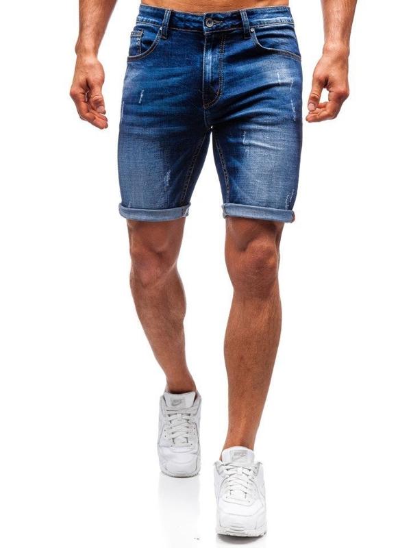 Bolf Herren Kurze Jeanshose Dunkelblau  T575