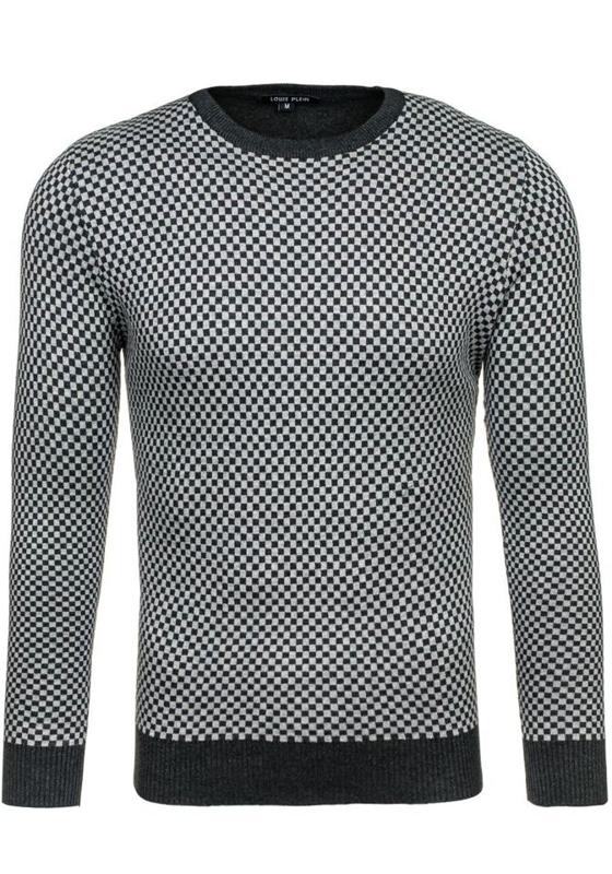 Bolf Herren Pullover Elegant Grau 7006