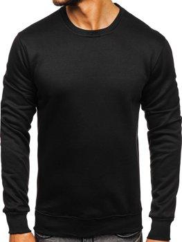 Bolf Herren Sweatshirt ohne Kapuze Schwarz D001-1