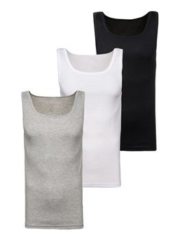 Bolf Herren Unterhemd Mehrfarbig 3 Pack  C10048-3P