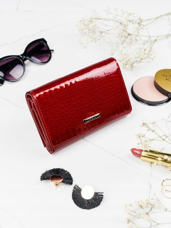 Damen Ledergeldbörse Rot 2091
