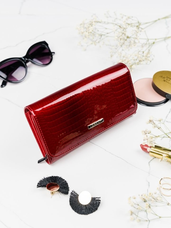 Damen Ledergeldbörse Rot 2095