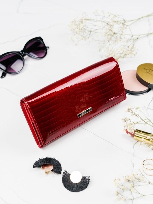 Damen Ledergeldbörse Rot 2097