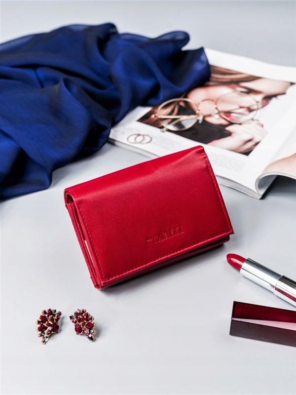 Damen Ledergeldbörse Rot 2410