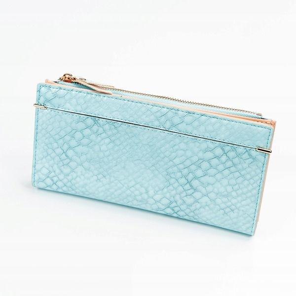 Damen Ökoledergeldbörse Blau 1050