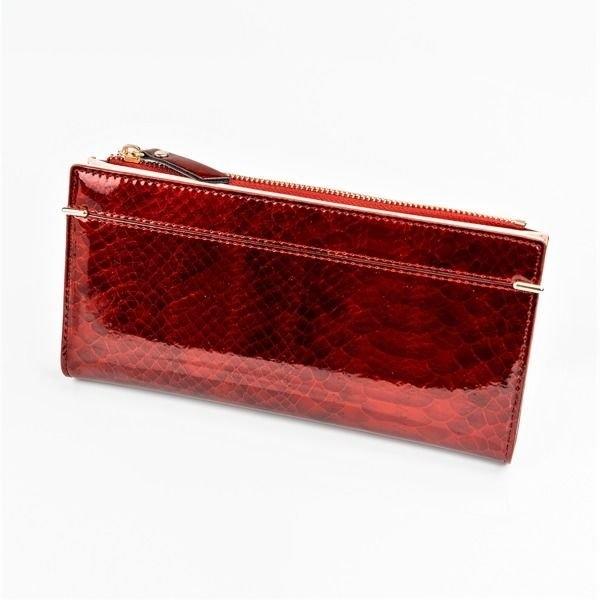 Damen Ökoledergeldbörse Rot 1049