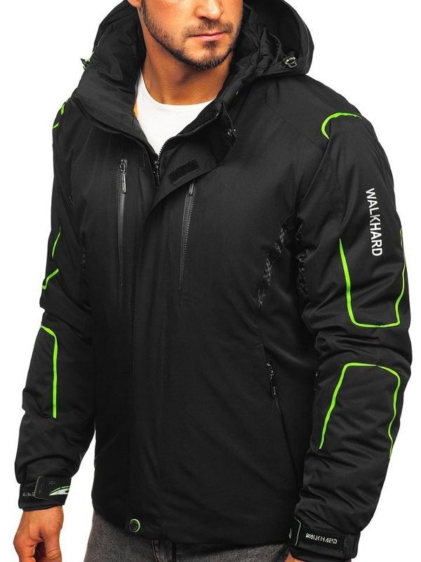 Geacă de ski bărbați neagră-verde Bolf A5625