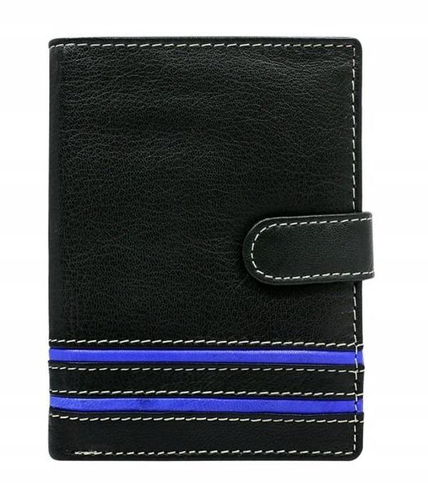 Herren Leder Geldbörse Blau 596