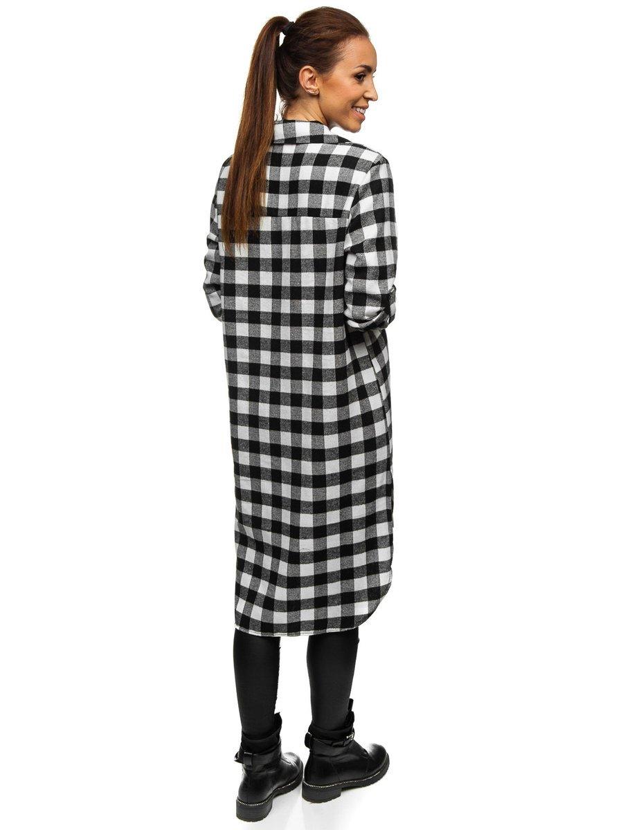 Bolf Damen Kleid Kariert Schwarz 9