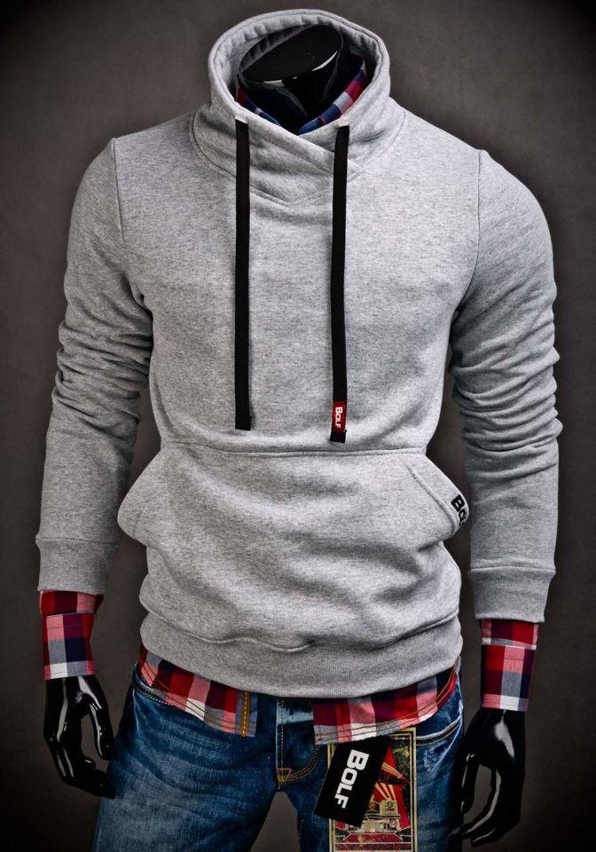new product 1f1ff b536a Sweatshirt Ohne Kapuze Herren Bolf 04 Grau MzVGLpqSU
