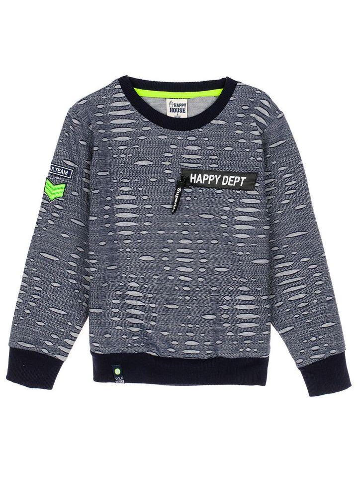 Bolf Jungs Sweatshirt ohne Kapuze Dunkelblau HB1963 9960625556
