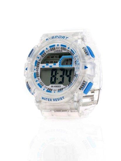 Bolf Armbanduhr Weiß-Blau 9003