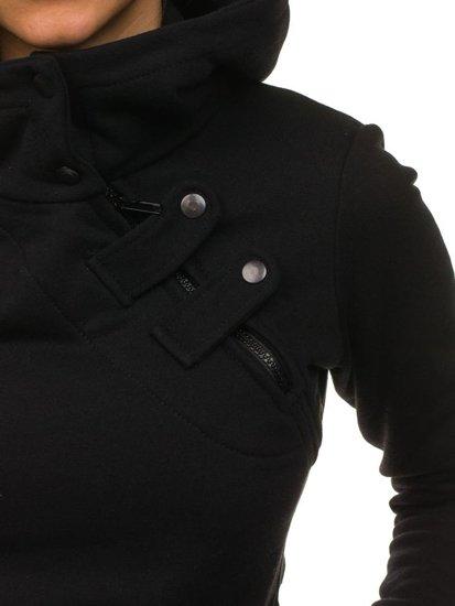 Bolf Damen Kapuzenpullover Schwarz 15S