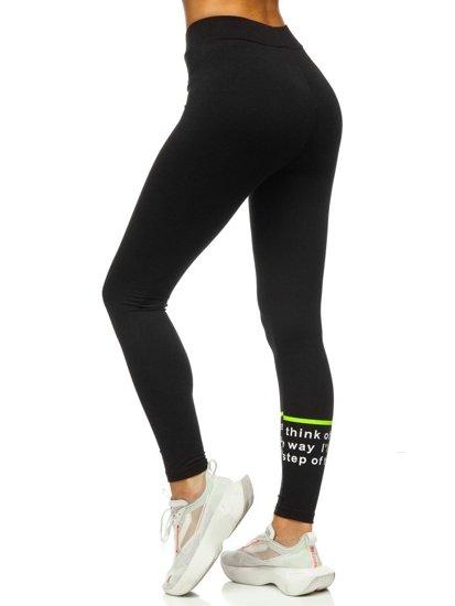 Bolf Damen Leggings mit Motiv Schwarz-Grün  W82357