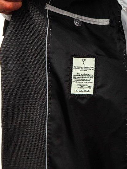 Bolf Herren Anzug Schwarzgrau 19200 1