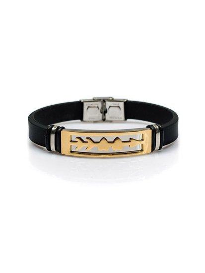 Bolf Herren Armband Schwarz B037