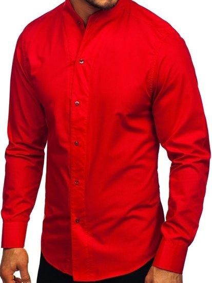 Bolf Herren Hemd Langarm Rot  5702