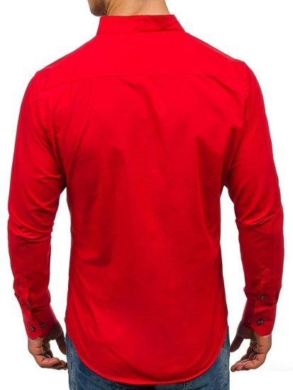 Bolf Herren Hemd Langarm Rot  5720