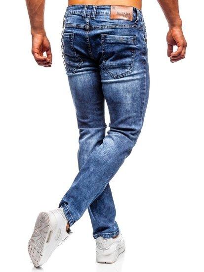 Bolf Herren Jeans Hose straight leg Dunkelblau  KA1261